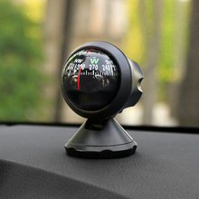 Car-Styling Plastic Navigation Compass Ball Car Vehicle Interior Ornaments Outdoor Direction Guidance Tool Adhesive Compass(China)
