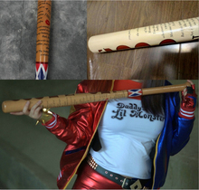 Moive Suicide Squad Harley Quinn Actual Print Spray-painted Wooden Baseball Bat Cosplay Prop(China)