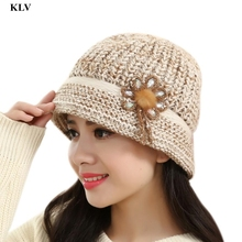 Newly Stylish Fashion Winter Warm Floral Women Lady Winter Warm Casual Crochet Knitted Berets Hat Femme No17