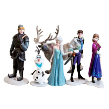 6pcs/lot 7-10CM Anna Elsa Hans Kristoff Sven Olaf PVC action Figure Toy Play Set classic toys Free Shipping Retail