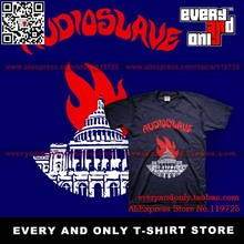 Audioslave Alternative rock Band Burning 100% cotton t-shirt tee t cloth