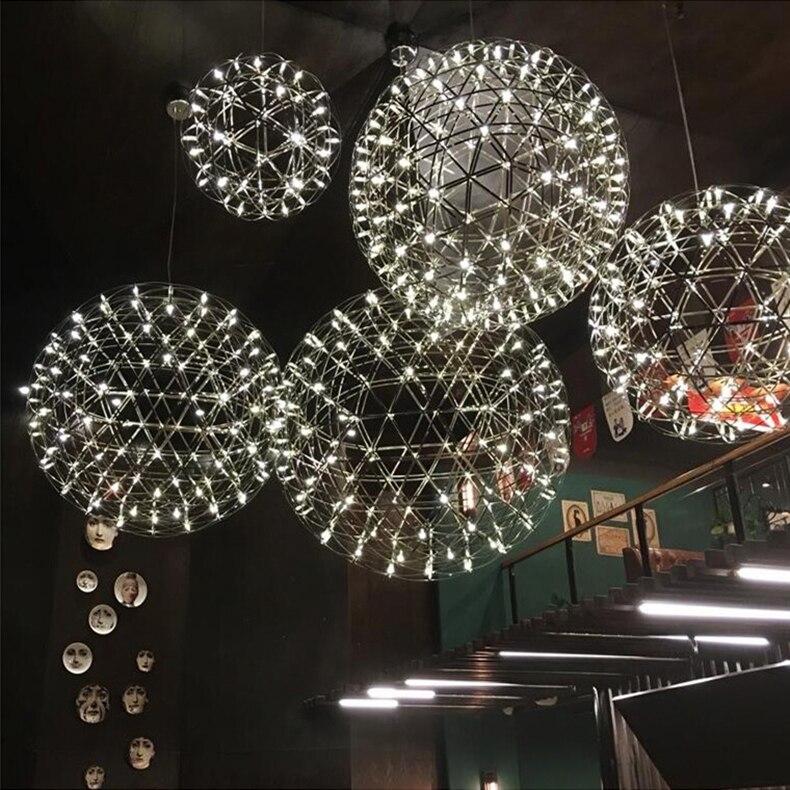 firework stainless steel chandelier led lamp loft 3