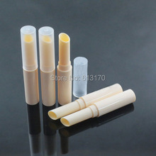 New Arrival Empty Lip balm Tubes Beige lip stick tube Bevel bore DIY Lip gloss Packing container(China)