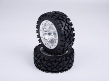 1/5 scale Baja 5B Alloy wheel hub and all terrain tyres - Front - 2pcs/set - 95257 for hpi km rv baja(China)