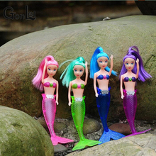 GonLeI Light Barbies Princess Mermaid Genuine Original Mermaid Doll Toys For Girls Cheap Beautiful Mermaid Doll Lovely M1001(China)