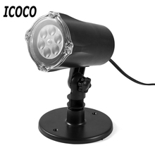 ICOCO 1pcs 4 LED Spotlight Projector Lamp 5 Types 4W for Christmas Holloween Home Decor Outdoor Party for US Plug Promotion Sale(China)