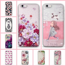 For iPhone 5 5s SE TPU Cover 3D Relief Flower case for iphone 6s 6 Plus case Soft Silicon Cover For iPhone 7 7plus back cover