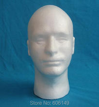 1 X Men Styrofoam Foam Mannequin Display Wig Glasses Hat Manikin Head Stand Model Display Hat Cap Free Shipping