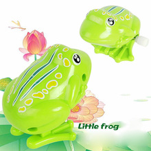 Kids Wind Up Clockwork Toy Mini Cute Jumping Frog Baby Toys Pull Back Wind Up Toys(China)