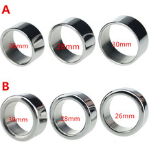 Buy Sleeves Penis Ring 2/5mm Thick Dia 26 26 30mm Stainless Steel Glans Ring Male Sex Ring Delay Cock ring Sex Toy Men B2-26