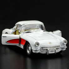 High Simulation Exquisite Diecasts&Toy Vehicles: Good Car Styling 1957 Corvette Vintage Car 1:34 Alloy Diecast Model Toy Car