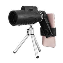 Buy 40X60 Monocular Telescope Phone Camera Lens Universal Clip-on Phone Holder + Tripod iPhone Samsung Xiaomi Huawei Phones for $15.81 in AliExpress store