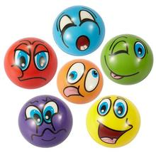 12Pcs 2.5Inch Funny Emoji Face Stress Balls Squeeze Foam Ball Novelty Relax Toys- Assorted Expression(China)
