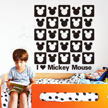 Art new design home decor cute vinyl animal mouse logo wall sticker cartoon house decoration PVC Mickey decals in family rooms