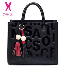 YANXI New Factory Outlets Leather Female Retro Lady PU Handbags Messenger Shoulder Totes Luxury Handbags Women Bags Designer