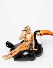 2017 New Pool Toys 75 Inch 1.9m Piscina Swan Boias Summer Giant Huge Mouth Flamingo For Adult Ride On Pool Toy Float Swim Ring(China)
