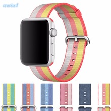 CRESTED sport woven nylon strap watch band For Apple Watch band 42 mm/38 men woman bracelet wrist band for iwatch band 1 2