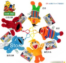 free shipping wholesale retail 5pcs/lot 5inch Sesame street elmo sesame street plush dolls toys small plush pendants