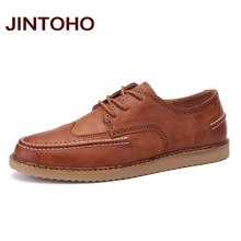 JINTOHO Italian Designers Shoes Fashion Men's Leather Moccasin Classic Male Shoes Breathable Men Casual Shoes Sapato Masculino(China)