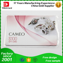 Direct manufacturers custom-made PVC cards Plastic gift card with scratch off and opp bags