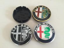 4pcs Free shipping 56mm ALFA ROMEO Car emblem Wheel Center Hub Cap wheel Badge covers Auto accessories