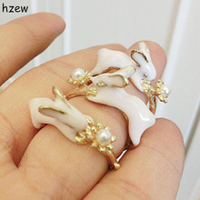 hzew new fashion Animal Ring Cute little rabbit ring for Sister or mom gift