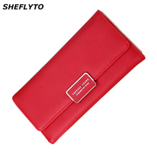 Buy Brand Designer Red Wallets Women Coin Purses Leather Phone Wallets Female Long Wallet Ladies Money Credit Card Holder Clutch Bag for $6.81 in AliExpress store