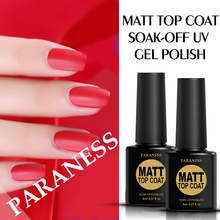 Paraness Matt Matte Nail Gel Polish Top Base Coat 8ml Gel Varnish Soak off Transparent Color Nail Polish Semi Permanent(China)