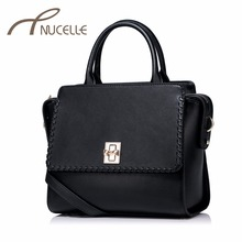 Nucelle Women Split Leather Handbag Fashion Ladies Knitting Wings Leather Tote Messenger Purse Female Corssbody Bags NZ4937(China)