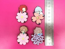 4 Pcs/set Anime Diabolik lovers pvc figure toy Rubber phone strap/Keychain pendant toys for gifts
