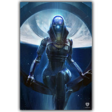 Mass Effect 2 3 4 Hot Shooting Action Game Art Silk Canvas Poster Print Wall Pictures For Bedroom Living Room Decor YX682