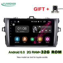 Autoradio Funrover 8 Inch 2g+32g 2 Din Android 6.0 Car Dvd Player For Toyota Corolla 2007 2008 2009 2010 2011 Radio Navigation(China)