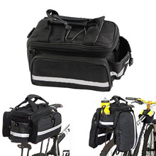 Brand New  Waterproof Cycling Bicycle bag Bike Rear Seat Trunk Bag Handbag rear bike panniers Black