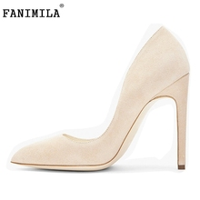 Women's High Heel Shoes Pointed Toe Pumps Ladies Wedding Party Dress Stiletto Shoes Woman Brand Heels Footwear Size 35-46 B156