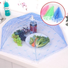 Kitchen Food Cover Umberlla Style Picnic Anti Fly Mosiquito Net Tent Meal Cover Table Mesh Food Cover Barbecue Kitchen Tools(China)