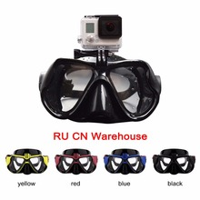 Professional Underwater Camera Diving Mask Scuba Snorkel Swimming Goggles for GoPro Xiaomi SJCAM Sports Camera(China)