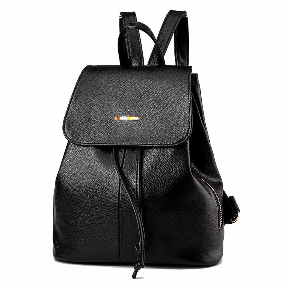 Hot Sale WomenS Backpack Female Korean Pu Leather Back Bags Fashion Casual High-Capacity Schoolbags Mochila Escolar Feminina<br>