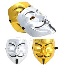 V for Vendetta Guy Fawkes Mask Anonymous Fancy Dress Cosplay Costumes Hot-448E