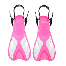 Children Adjustable Snorkel Shoes For Swimming Fins Profession Competition Boy Girl Diving Fins Training Flippers Black Red Pink