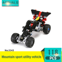 Decool 3343 118Pcs Technic series Mountain sport utility vehicle Model Building Blocks Bricks Toys For Children Gift(China)