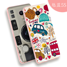 "Meizu m5s phone case High-end 3D Relief cartoon image painting soft Silicone 5.2"" cover meilan5s(China)"