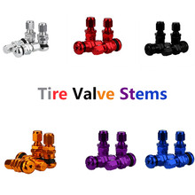 4pcs Set Bolt-in Aluminum Car Tubeless Wheel Tire Air Valve Stems Cap Hex With Dust Caps Car inner tube valve(China)