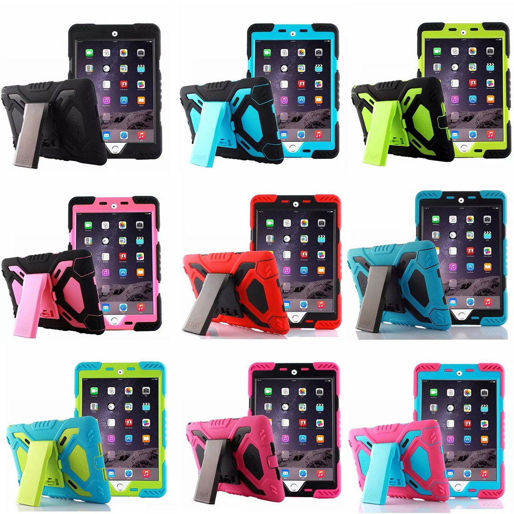 Pepkoo armor Case For Ipad Shockproof Waterproof Powerful Protection Stand Cover Kids Safe Cases For Apple Ipad Mini 4 Fundas<br><br>Aliexpress