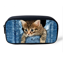 Cute Animal Women Cosmetic Case Organizer for Make up Pet Cat Dog Printed Kids School Pencil Box Pouch Travel Makeup Bag(China)