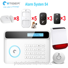Wireless command nice look alarm system activate disactivate remotely on phone security shop gsm alarm easy setting