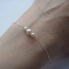 Kittenup Gold Silver Color  Chain Bracelet imitation pearl Beads Bracelets Bangle For Women