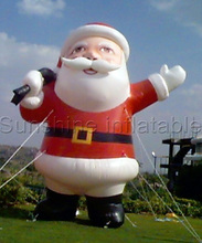 16ft giant christmas inflatable santa claus holding microphone, funny outdoor christmas inflatable decoration