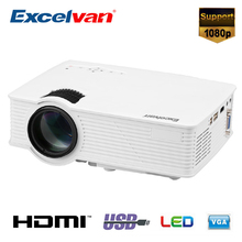Excelvan GP9 GP-9 EHD09 Portable LED Projector Support 1080P 2000 Lumens Home Cinema HDMI/USB/SD/AV/3.5mm GP9 Projector GP-9