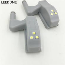 Leedome 10X Universal SMD2835 Hinge LED Night Light Lamp For  Cabinet Wardrobe Inner Door light Auto Switch ON/OFF Home Lights