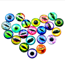 CCINEE 60PC 12/16/20mm Glass Dolls Eye DIY Craft Eyes For Toy Dinosaur Animal Eye Time Gem Accessories No Self-adhesive Toys Eye(China)